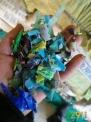 低压瓶盖聚乙PE破碎料,低压食品箱破碎料