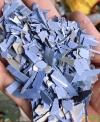 PVC蓝扣板破碎料