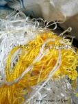涤纶黄色废布、黄色废丝