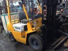 供应二手TCM合力叉车,门架4米内燃式堆高叉车