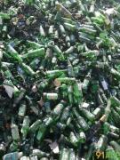 供应绿色酒瓶碎玻璃