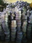 铝材包装过后的PVC废膜压包料及破碎料
