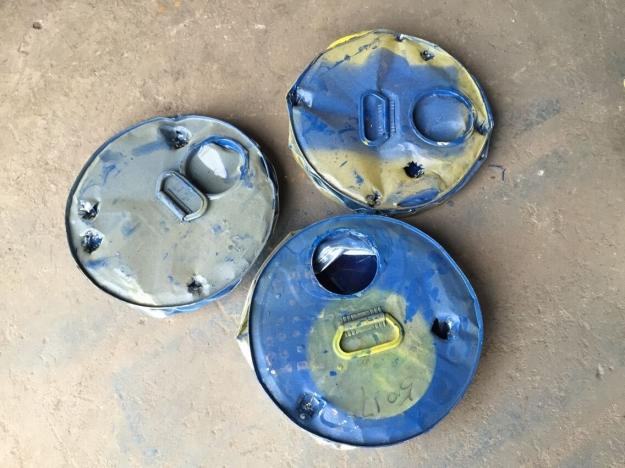 供应油漆桶压扁机